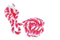 Katoenen kabel voor hondstuk speelgoed royalty-vrije stock afbeelding