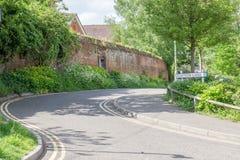 Katoenen Steeg in landelijk stadscentrum Suffolk, Engeland royalty-vrije stock fotografie