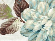 Katoenen stof met bloemenpatroon Stock Afbeelding
