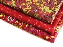 Katoenen stof voor het naaien ontwerp Royalty-vrije Stock Afbeeldingen