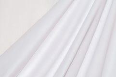 Katoenen van de textuur wit gordijn Stock Afbeelding