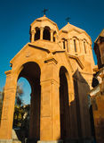 Katoghike Holy Mother of God Church and Saint Anna Church. Armenian architecture. Yerevan City center, Armenia. Religious backgrou. Photo of the Katoghike Holy Stock Photography