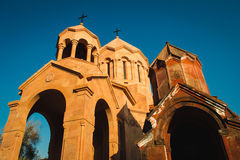 Katoghike Holy Mother of God Church and Saint Anna Church. Armenian architecture. Yerevan City center, Armenia. Religious backgrou. Photo of the Katoghike Holy Royalty Free Stock Photo