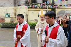Katoliccy duchowieństwa zdjęcia royalty free