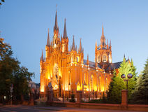 Katolicka katedra w Moskwa 03 07 2017 Obrazy Royalty Free