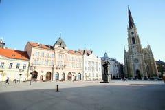 Katolicka Porta i Novi Sad i mitten av Novi Sad, capitaen Royaltyfri Bild