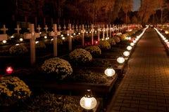 Katolicki cmentarz Obrazy Royalty Free