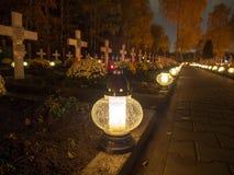 Katolicki cmentarz Zdjęcie Royalty Free