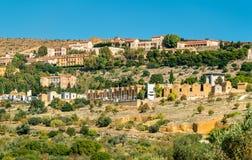 Katolicki cmentarz w Agrigento, Sicily, Włochy Obraz Royalty Free