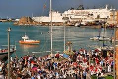Katolicki festiwal religijny na Wrześniu 27 w Civitavecchia Obrazy Royalty Free