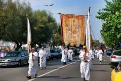 Katolicki festiwal religijny na Wrześniu 27 w Civitavecchia Fotografia Stock