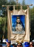 Katolicki festiwal religijny na Wrześniu 27 w Civitavecchia Obrazy Stock
