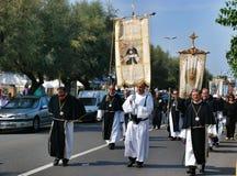 Katolicki festiwal religijny na Wrześniu 27 w Civitavecchia Zdjęcia Stock