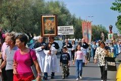 Katolicki festiwal religijny na Wrześniu 27 w Civitavecchia Obraz Royalty Free