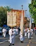 Katolicki festiwal religijny na Wrześniu 27 w Civitavecchia Zdjęcie Royalty Free