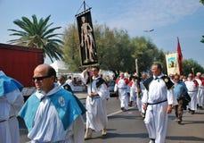 Katolicki festiwal religijny na Wrześniu 27 w Civitavecchia Fotografia Royalty Free