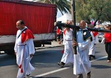 Katolicki festiwal religijny na Wrześniu 27 w Civitavecchia Zdjęcie Stock