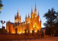 Katolicki Katedralny budynek w Moskwa 03 07 2017 Zdjęcie Stock