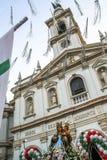 Katolicki korowód na cześć Nasz damę Achiropita zdjęcia stock