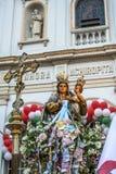 Katolicki korowód na cześć Nasz damę Achiropita zdjęcie stock