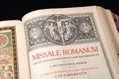 Katolicki rozkaz msza w łacinie obrazy stock