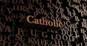 Katolik - Drewniani 3D odpłacający się listy/wiadomość royalty ilustracja