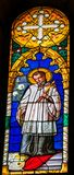 Katolik Prest Stained Glass Baptistery Cathedral Pisa Italien royaltyfri foto