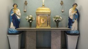 Katolik rzeźby w Brazylijskim kościół zdjęcia royalty free