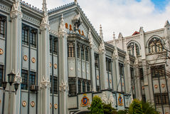 Katolsk domkyrka manila philippines arkivbilder