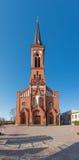 Katolsk domkyrka på den Pastavy staden Arkivfoto