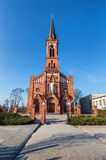 Katolsk domkyrka på den Pastavy staden Arkivfoton