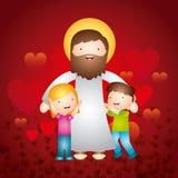 Katolsk förälskelsedesign vektor illustrationer