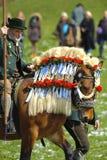katolsk hästprocession Arkivbilder