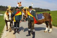 katolsk hästprocession Royaltyfria Bilder