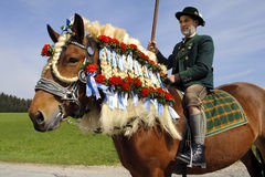 katolsk hästprocession Royaltyfri Foto