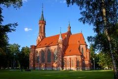 Katolsk kyrka av den välsignade oskulden Mary Shkaplernaya arkivfoto