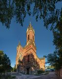Katolsk kyrka av St Joseph i Nikolaev, Ukraina arkivbild