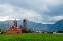 Katolsk kyrka av St Peter aposteln, stång, Montenegro Arkivbilder