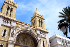 Katolsk kyrka av St Vincent de Paul i Tunis Royaltyfria Bilder