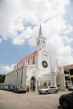 Katolsk kyrka av vår dam av Lourdes i Singapore Arkivbild
