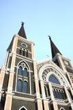 Katolsk kyrka chantaburi, Thailand royaltyfri fotografi