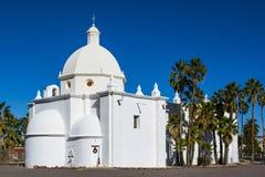 Katolsk kyrka för obefläckad befruktning i Ajo, Arizona Arkivbilder