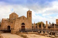 Katolsk kyrka för St Paul's i Paphos, Cypern Royaltyfri Foto