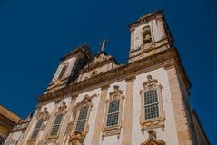 Katolsk kyrka historiskt omr?de av Pelourinho Den historiska mitten av Salvador, Brasilien royaltyfri fotografi
