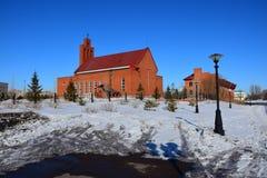 Katolsk kyrka i Astana Arkivbild