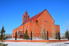 Katolsk kyrka i Astana Royaltyfri Fotografi