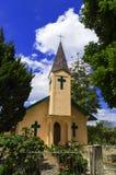 Katolsk kyrka i den Samosir ön. HKPB Pardomuan Sibutar. Arkivbilder
