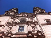 Katolsk kyrka i Jalisco, Mexico arkivfoton
