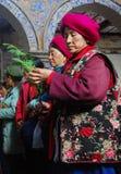 Katolsk kyrka i kinesiskt land Royaltyfri Fotografi