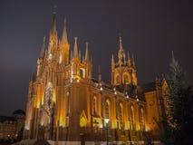 Katolsk kyrka i Moskva Fotografering för Bildbyråer